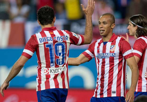 Joao Miranda junto a Diego Costa