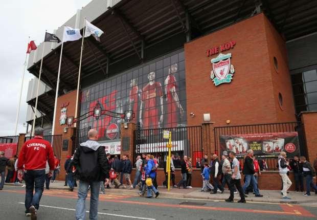 Die Anfield Road in Liverpool