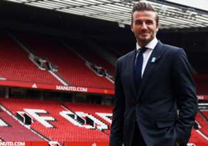 David Beckham returned to Old Trafford ahead of a UNICEF charity match to discuss Sir Alex Ferguson, Ryan Giggs, Zinedine Zidane...and flying boots!