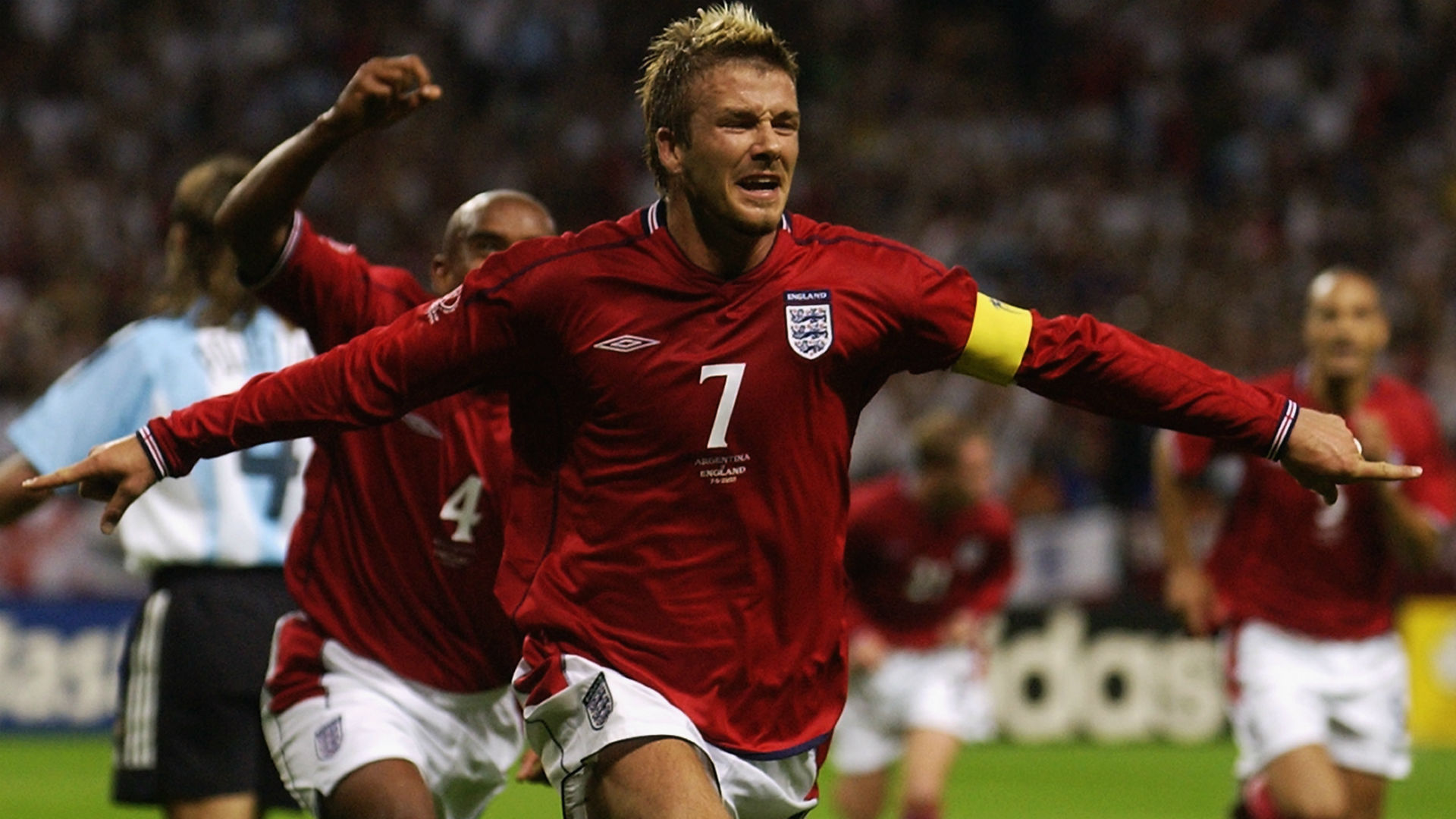 David Beckham Goal Celebration David Beckham V Argentina Uopsghzqziqrlwierj