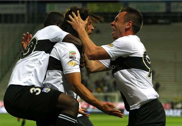 Die Freude nach dem vermeintlichen Einzug in die Europa League war in Parma groß