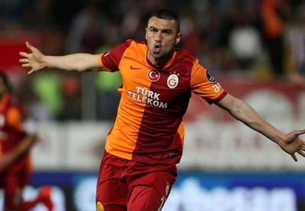 Burak Yilmaz hat mit seinen zwei Toren großen Anteil an Galatasarays Sieg