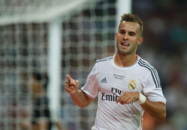 Jesé durante un partido con el Real Madrid