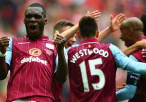 CHRISTIAN BENTEKE | Aston Villa 2-1 Liverpool | Scored his sixth goal in four matches to bring his side level and dominated the Reds defence throughout to help his club reach a first FA Cup final in 15 years.