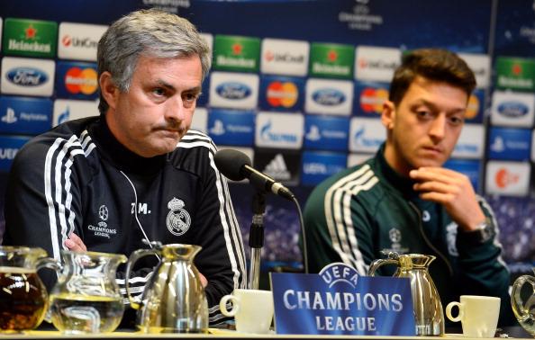 José Mourinho y Mesut Ozil, Real Madrid