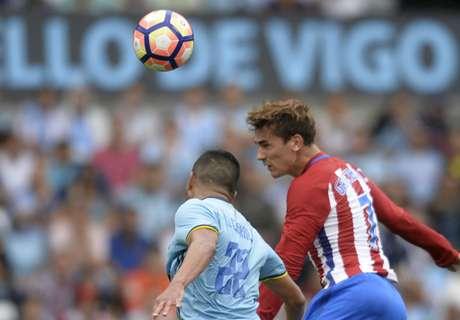 Griezmann brace bails out troubled Atleti