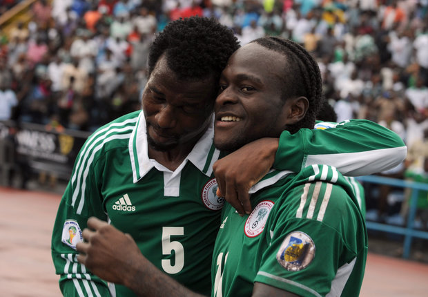 Victor Moses and Efe Ambrose - Nigeria