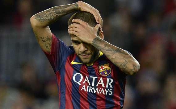 Auch Dani Alves könnte den FC Barcelona nach der Saison verlassen