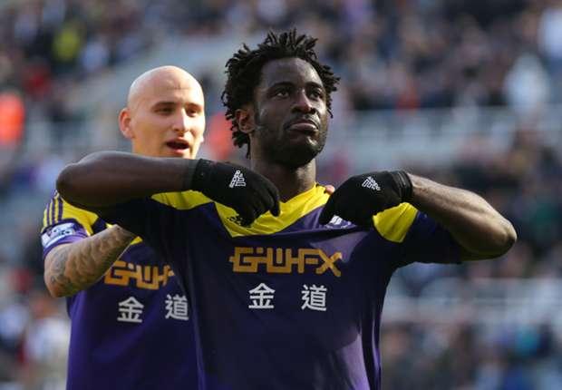 Inform Swansea striker Bony is a wanted man