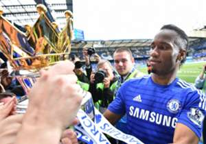 Didier Drogba takes a moment to mingle with supporters