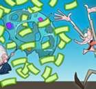 Cartoon: Blatter showered in money