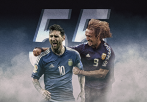 Following Lionel Messi announcement that he is planning to retire from international football following Argentina's Copa America final defeat to Chile, Goal runs through all the Barcelona star's 55 goals for his country that saw him break Gabriel Batis...