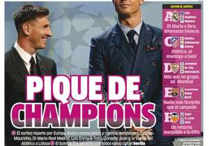 <strong>MARCA | Spain | A CHAMPIONS RIVALRY |</strong> European draw sets up a host of notable duels: Casillas-Mourinho, Di Maria-Real Madrid, Luis Enrique-Totti, Llorente-Juventus and Atletico returns to Lisbon