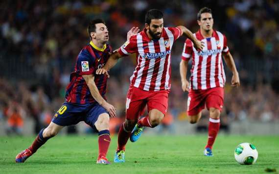 Lionel Messi, Arda Turan, Barcelona Atletico de Madrid
