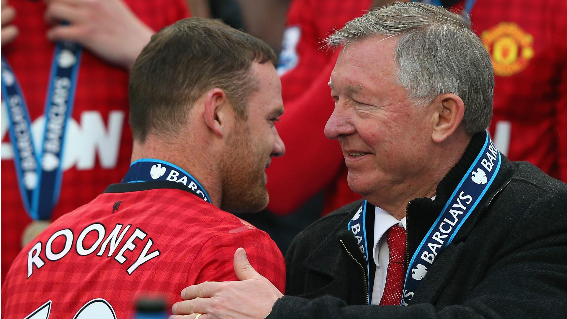Wayne Rooney Alex Ferguson Manchester United Premier League 120513