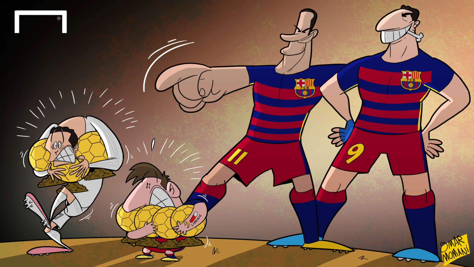 Cartoon Suarez Amp Neymar Liga S Jewels Goal Com