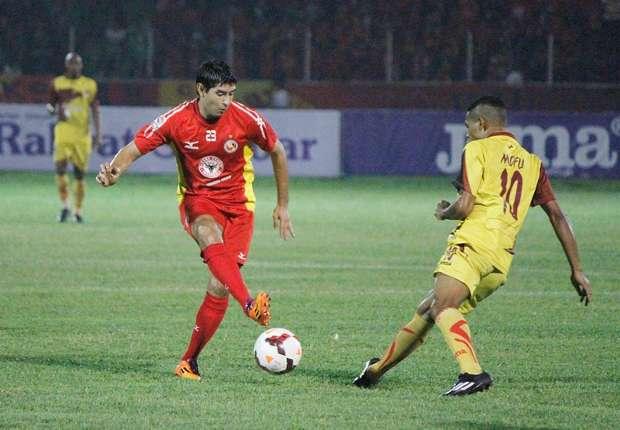 Derby Andalas antara Sriwijaya FC dan Semen Padang berlangsung di Gelora Sriwijaya Jakabaring