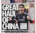 BACK PAGES: Chelsea reject £57m Oscar bid