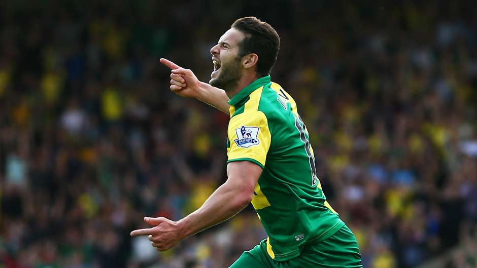 Matt Jarvis Norwich City Bournemouth Premier League 12092015