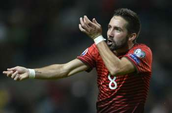 Monaco midfielder Moutinho reaches 100 caps for Portugal
