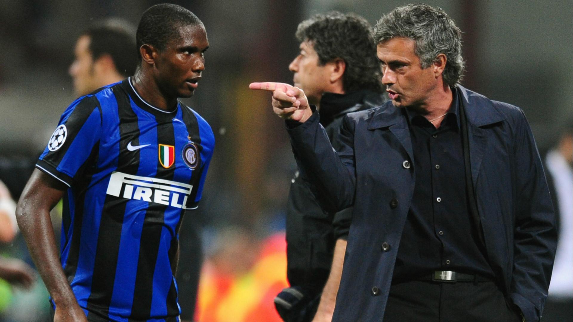 Samuel Eto'o Jose Mourinho Inter