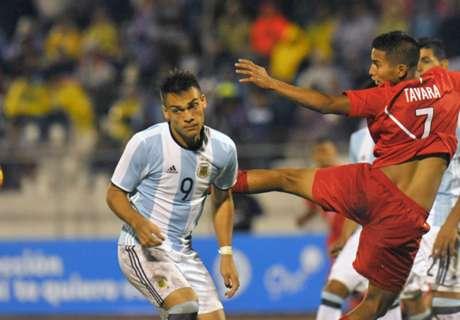 Argentina salvó un punto ante Perú