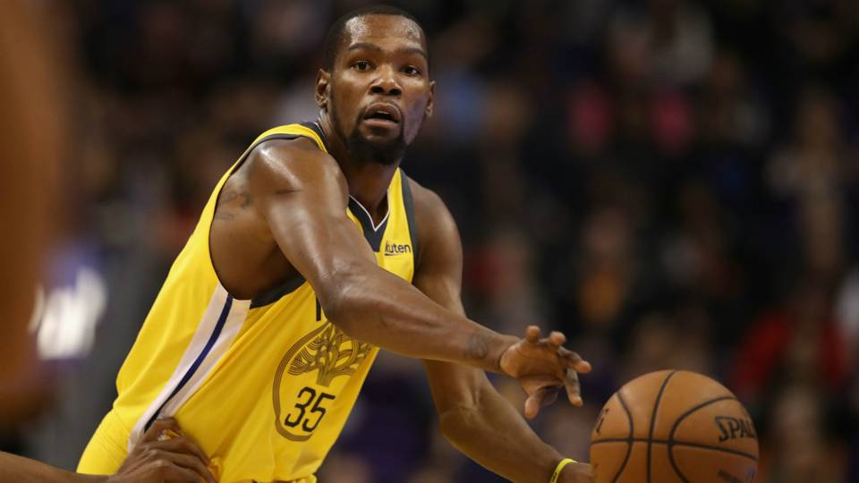 Kevin Durant Golden State Warriors v Phoenix Suns NBA regular season 31122018