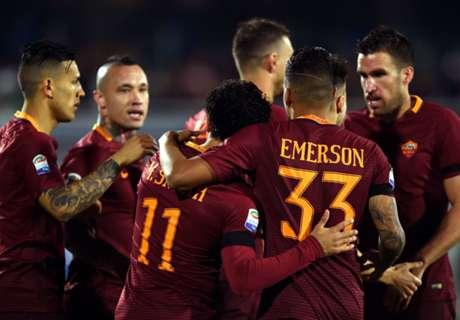 Roma goleó a Pescara y aún pelea