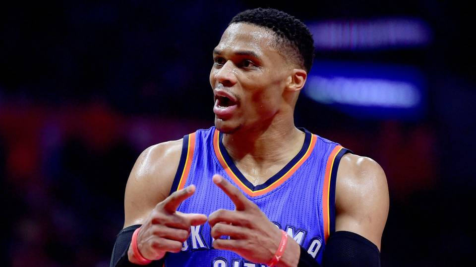 Russell Westbrook Oklahoma City Thunder vs Los Ángeles Clippers NBA 01162017