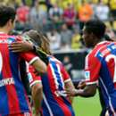 Pierre-Emerick Aubameyang & Robert Lewandowski Borussia Dortmund v FC Bayern Muenchen DFL Supercup 13082014