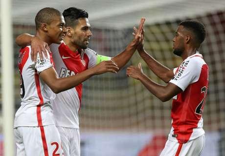 Monaco goleó con uno de Falcao