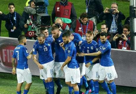 Diwarnai Kericuhan, Italia Tekuk Albania