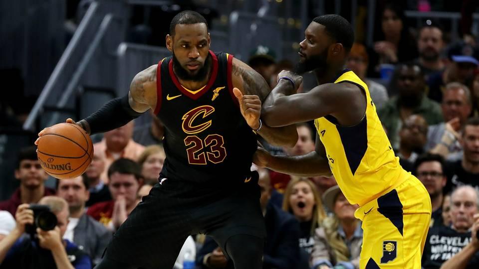 LeBron James Lance Stephenson Cleveland Cavaliers v Indiana Pacers NBA 29042018