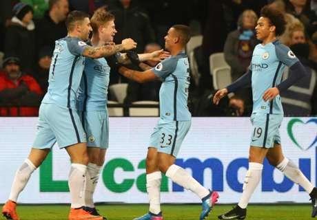 El City goleó a West Ham