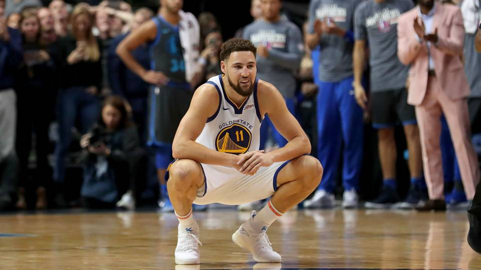 Klay Thompson Golden State Warriors vs Dallas Mavericks NBA 17112018