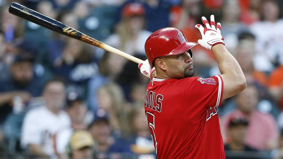 Albert Pujols Angels vs Astros MLB 23042018