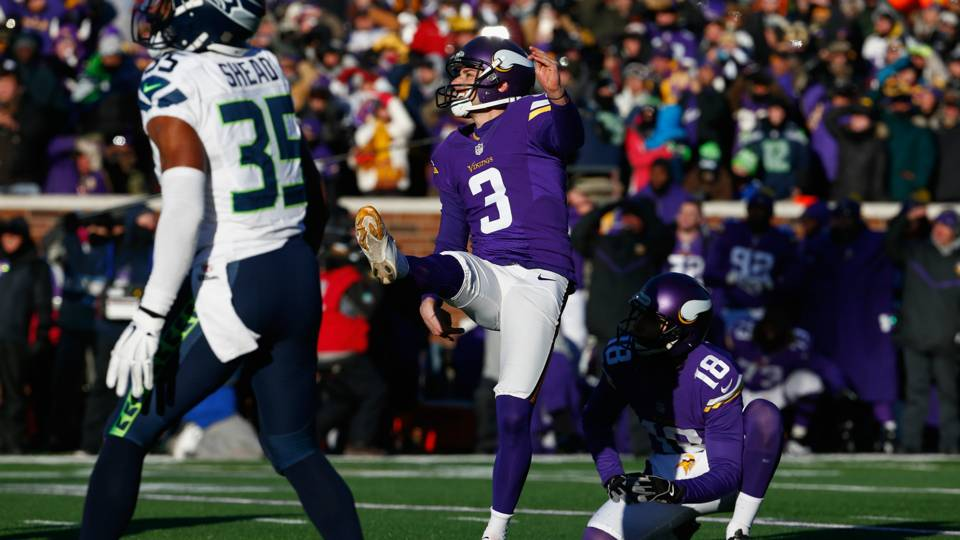 Blair Walsh - Minnesota Vikings vs Seattle NFL 01102015
