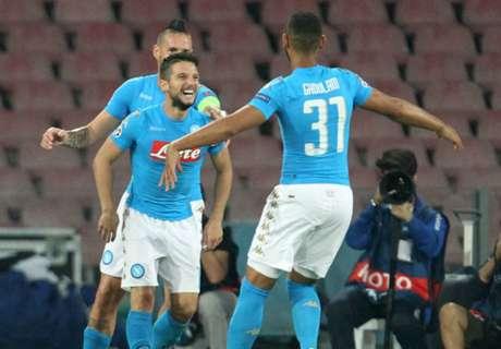 Napoli goleó a Benfica