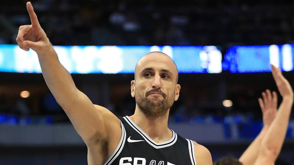 Emanuel Ginobili San Antonio Spurs v Dallas Mavericks NBA regular season 14112017