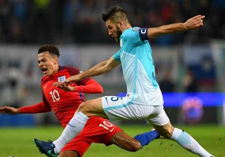 Eslovenia e Inglaterra repartieron puntos