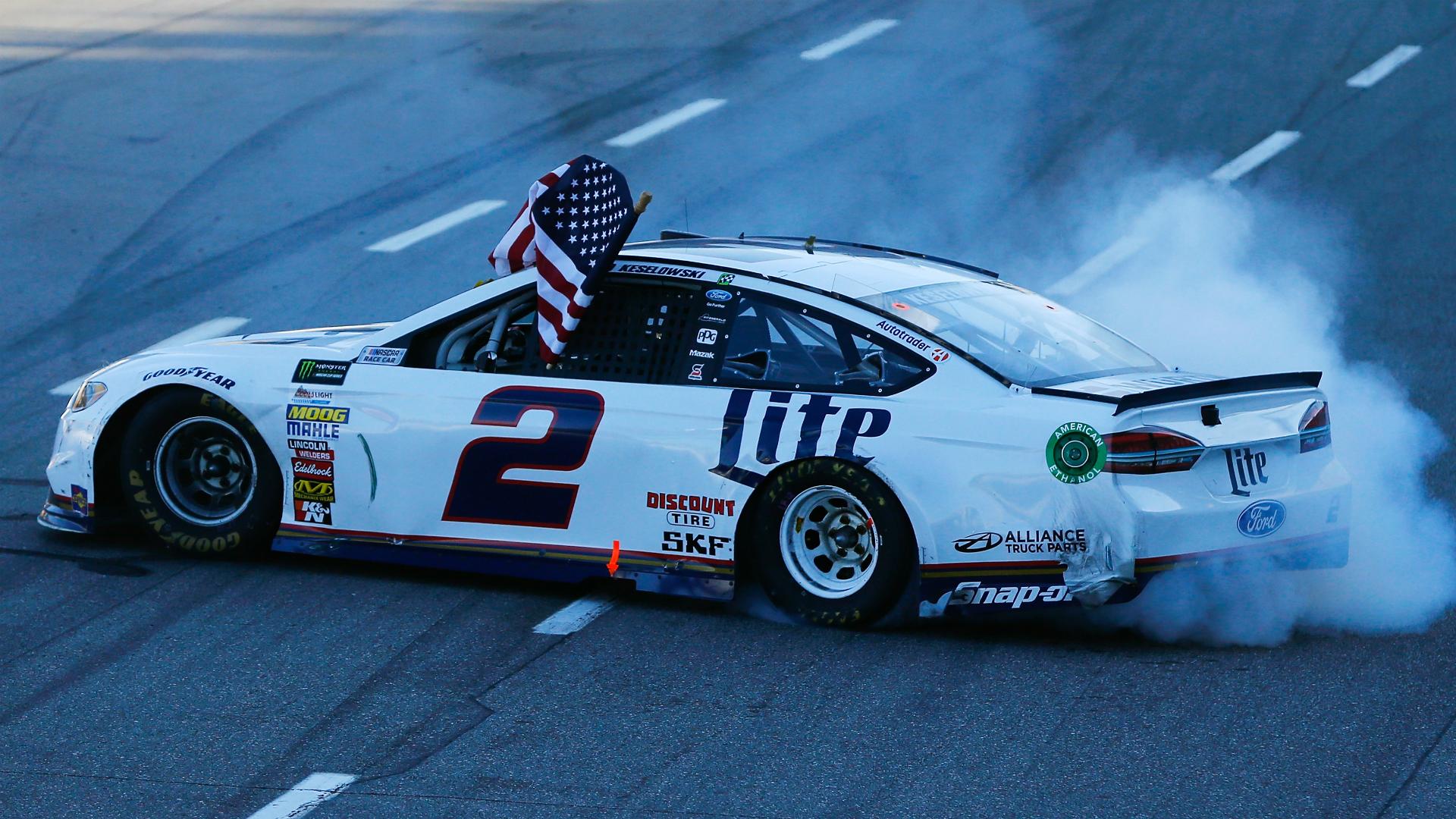 NASCAR results at Talladega: Brad Keselowski avoids carnage, wins on last-lap pass