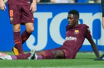 Dembele steps up Barcelona training ahead of comeback