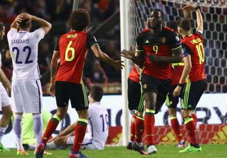 Lukaku rescató a Bélgica ante Grecia