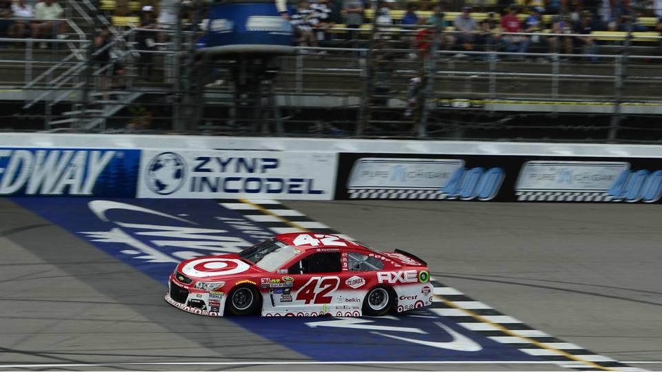 Kyle Larson Chevrolet NASCAR Sprint Cup Series Pure Michigan 400 28082016