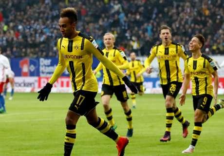 Hamburg 2-5 Dortmund: Four for Auba