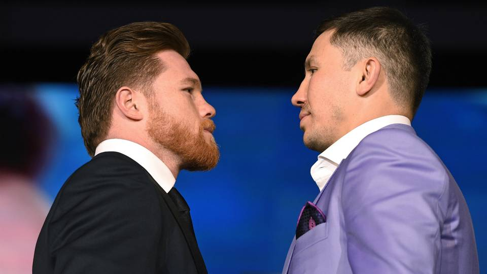 Canelo Alvarez v Gennady Golovkin Press Conference at Microsoft Theater at LA 27022018