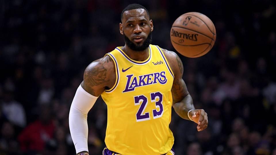 LeBron James Los Angeles Lakers v Los Angeles Clippers NBA regular season 31012019