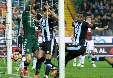 Gol de Duván pero empate de Udinese