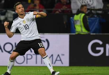 Adiós y triunfo de Podolski y Alemania
