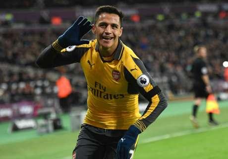 Arsenal goleó gracias a Alexis
